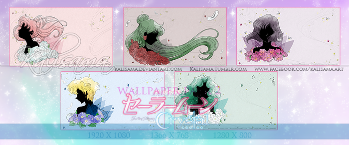 SM Crystal Outer Senshi Wallpaper Pack by Kalisama