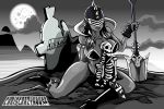 GRAVEDIGGER BLACK AND WHITE by chriscrazyhouse