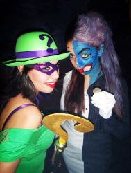 Lady Two-Face and Lady Riddler by FlorBcosplay
