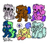 DTA kittydog adopts by ghoststrings