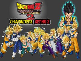 Dragon Ball Z Characters Set2 by The-Lonely-Wolf