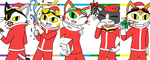 Merry BLiNX'mas!! 2016 by catgirl140