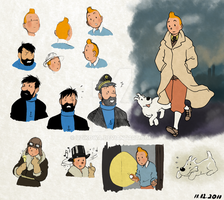 The Adventures of Tintin by uzikowa