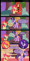 Twilight and Apple Bloom in ''Il Maestro'' by DiegoTan