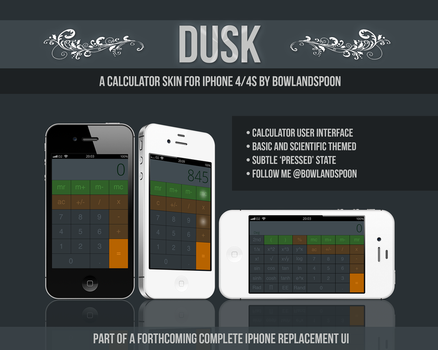 Dusk Calculator for iPhone by bowlandspoon