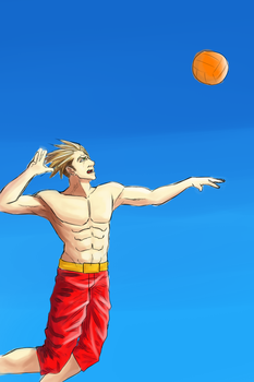 Fragments - Beach Event : Volley Ball by Pseudo-Transcendant