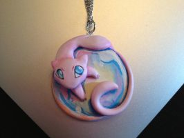 Mew on a Bubble Necklace