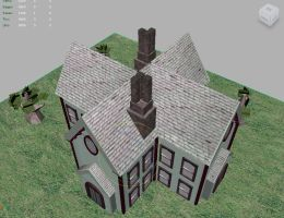 3D Victorian House 3 by IndigoFlamingo