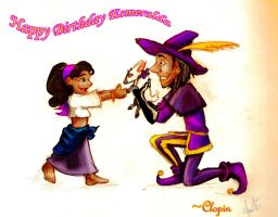 Happy B-day Esme _colored_ by Cocoaprints