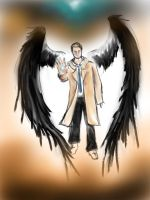 Castiel, the Baby in a Trenchcoat by ImagineArchangels