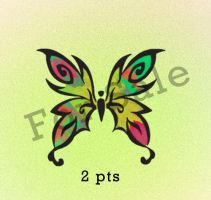 Butterfly adoptable:2pts:CLOSED by momo-pie