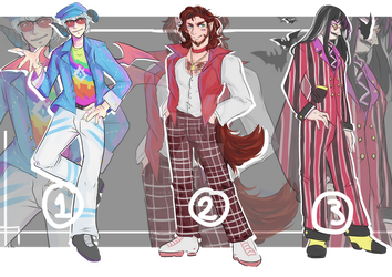 (OPEN) AUCTION Groovy band (1/3) by Deadclub-Adopt