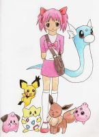 Madoka's First Pokemon Team by starfireelf15