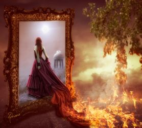 Fleeing the fire by Adriana-Madrid