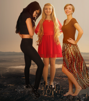 Giantess Girls Just Wanna Have fun by dochamps