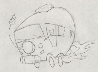 The Ure's Bus Towing Sketch 02 by doncroswhite