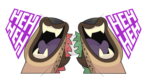 Sticker batch #2 -Hyena Sticker by Tomthebaker
