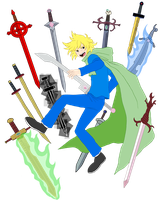 God Tier Finn + Weapons by pyrogina