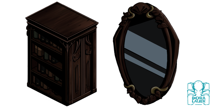 Old Furniture - Game Asset by DoraLauer