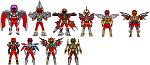 Power Rangers Battlizers by Stuart1001