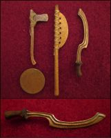 Weapons From The Ancient Egypt - Khopesh And Axes by AtriellMe