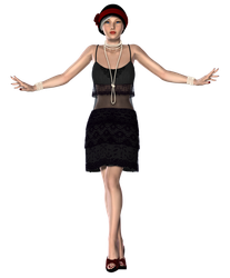1920's Flapper Girl by RedHeadFalcon