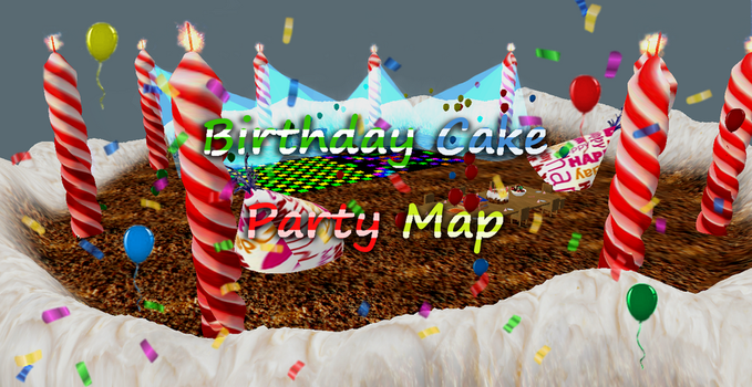 Birthday Cake Party Map by Coralstar51199