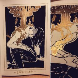 Ink/GrossTober 25: Sacrificed by GoldenTar