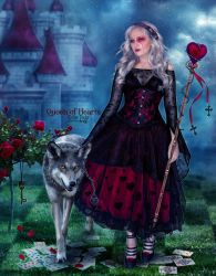 Queen of Hearts by EstherPuche-Art