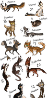 Warrior Cat Doodle Adopts 6 {CLOSED} by 0palite