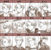Hetalia - America emotions by kanae