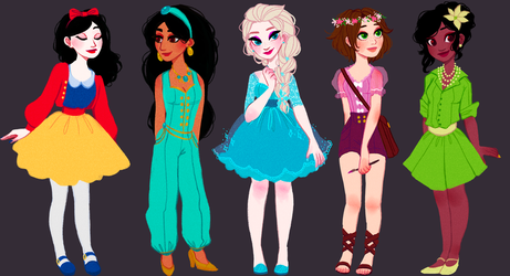 modern princesses by snownymphs