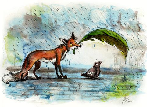 Here, stay dry by Culpeo-Fox