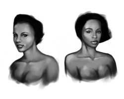 Speed Painting: Women Faces by mosingo