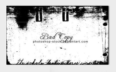 Bad Copy by photoshop-stock