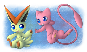 Redraw: Victini and Mew!