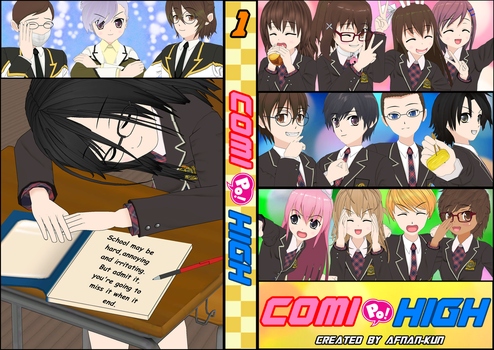 COMI PO! HIGH Book Cover by Afnan-kun