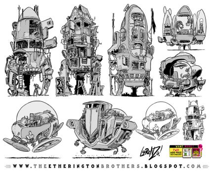 7 Rocket and Space Ship designs and concepts by STUDIOBLINKTWICE