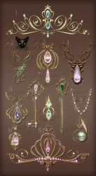 Jewelry Design Gold elements diadems and keys by Lyotta