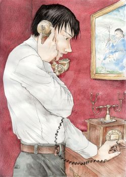 Roy Mustang on the phone by Atelierdereve