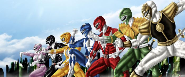 Mighty Morphing Power Rangers by Gourmandhast