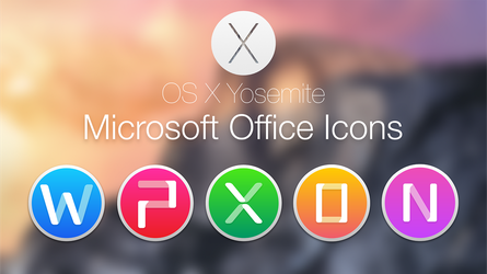 Microsoft Office 2011 Yosemite Style by hamzasaleem