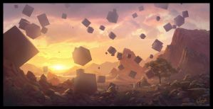 Floating Cubes by stakez131290