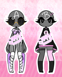 Adopts | Pastle Goth Oufits - $5 by Nykun