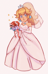 Princess Peach Wedding by sakurakiss777