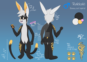 Commission: Ref Sheet for Rakkaki by Fyreace