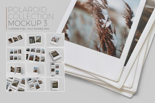 Polaroid Collection Mockup 3 by Kipet