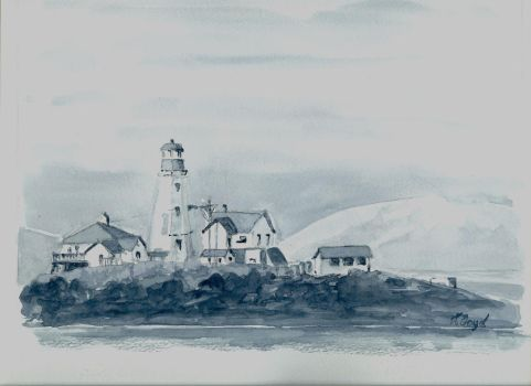Lighthouse, Hecate Strait by pens-n-feathers