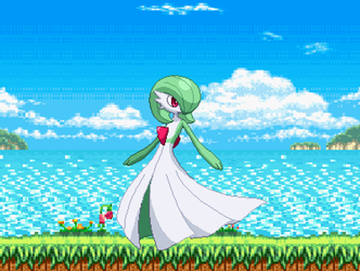Gardevoir Moving around. by genesis128