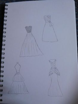 Dress Sketches by ThePhotographyPotato